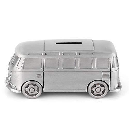 Hilitand Kreative Spardose Original Bus Modell Spartopf Klassische und Einfach Gestaltete Fahrzeug Münzlagerung Wohnkultur Geschenk für Kinder und Erwachsene