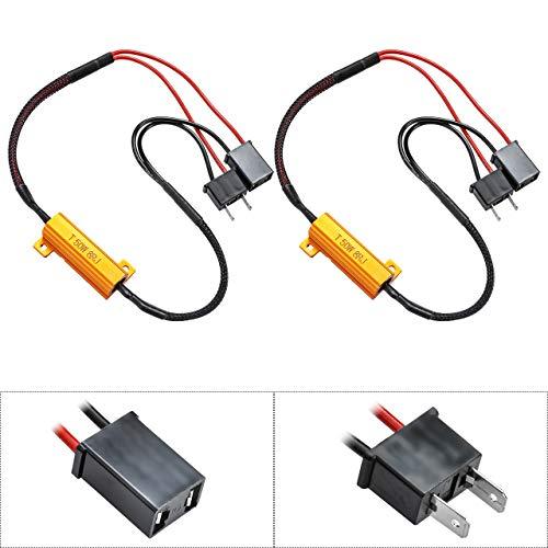 TUINCYN 50W 8 ohms H7 Led Résistances de charge Connecteur Phare Clignotant Ampoule Hyper-Flash Avertissement Feu de jour Erreur Erreur Annulateur Condensateur Décodeur Fil