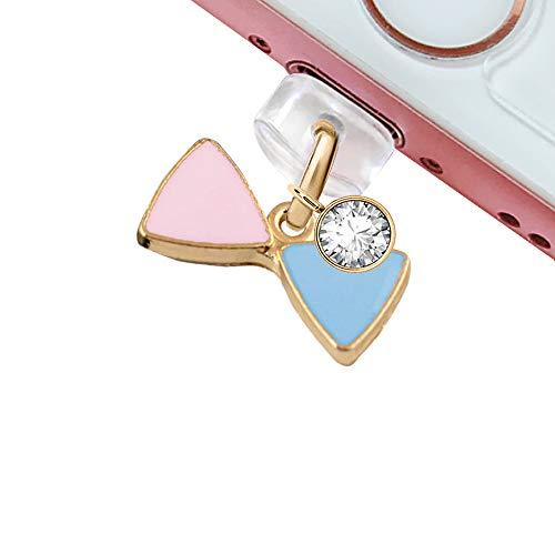 ELISE&FONDA CP151USB 충전 포트 안티 먼지 플러그 귀여운 작은 활 펜던트 전화 매력 아이폰 11 | XS 최대 | XR | X | 8 플러스 | 7 | 6S | 7 | SE IPAD 아이팟