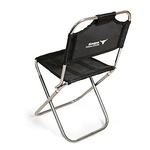 Yunhigh Portable Klappstuhl mit Rückenlehne, Aluminium Mini Angeln Stuhl kleine Hocker Sitz schwere Faltbare leicht für Wandern Camping Picknick Reise