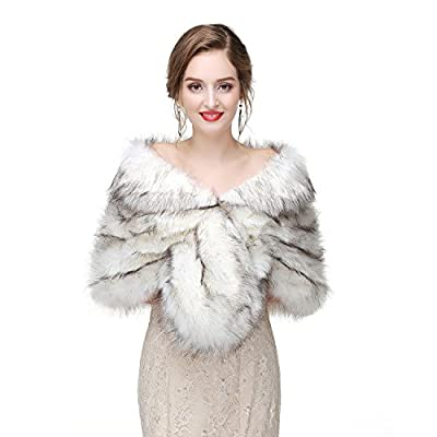 Faux Fur Shawl Wedding Fur Wraps and Shawl Bridal Fur Stole Fur Cape for Brides and Bridesmaids
