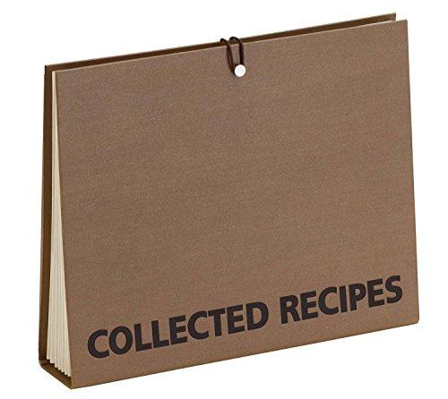 Meadowsweet Kitchens Accordion File Recipe Organizer - Brown