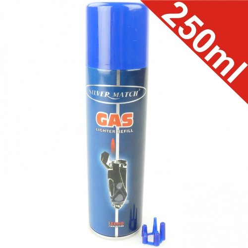 Feuerzeuggas 250ml Universal Nachfüllgas Feuerzeug Gas Nachfüller