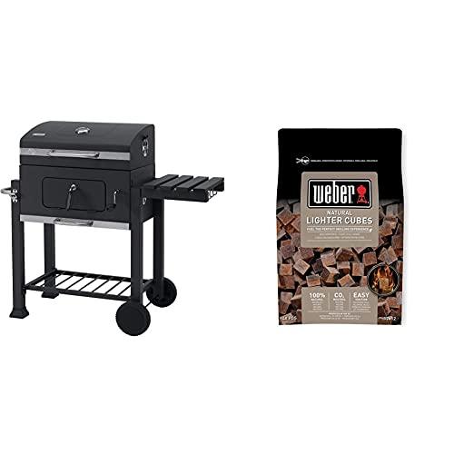 Tepro 1164 Toronto Click 2019 Barbecue a carbone, Acciaio inox, Antracite & Weber 17612 - Cubetti accendifuoco 48 pastiglie sul marrone