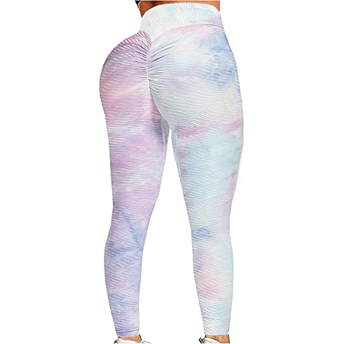 ღLILICATღ Pantalones De Yoga para Levantamiento De Cadera De Cintura Alta para Mujer, Mallas para Adelgazar con Control De Barriga, Mallas para Entrenamiento, para Correr, para Levantar GlúTeos
