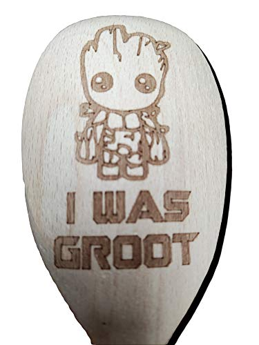 FastCraft Guardians of the Galaxy Groot Inspired Wooden Baking Spoon