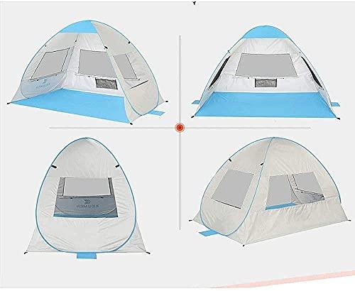 SHUMEISHOUT El Nuevo Familia Tent Beach Tent Pequeño Portátil 2-3 Persontent for Camping Pesca Senderismo Picnicing para Eventos de Fiesta al Aire Libre Carpa al Aire Libre (Color : Green)
