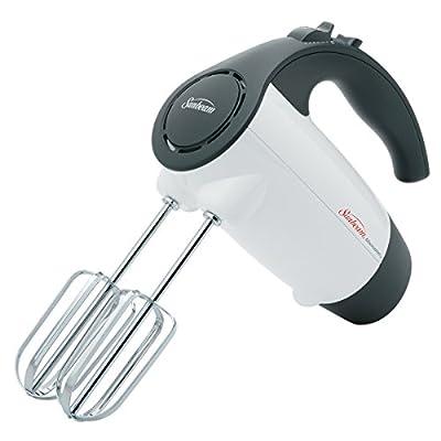 Sunbeam 2524 200-Watt 6-Speed Hand Mixer, White with Black Accents from Sunbeam