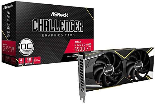 ASRock RX5500 4GB XT Challenger D OC HDMI/3xDP DDR6 Retail - Gaming-Grafikkarte
