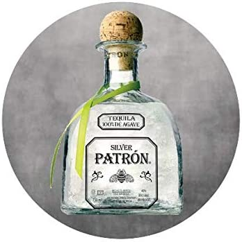 THIS IS NOT ALCOHOL Custom Patron Silver Tequila Edible Image Cake Topper For 7 5 Round Cake product image