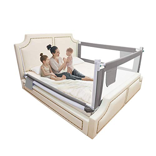 Toddler Bed Rail Sturdy and Breathable Oxford Cloth Thicken Iron Frame is Solid, Strong and not Easy to de Form Folding Child Toddler Bed Rail Safety Protection for Toddler Baby and Children-Square