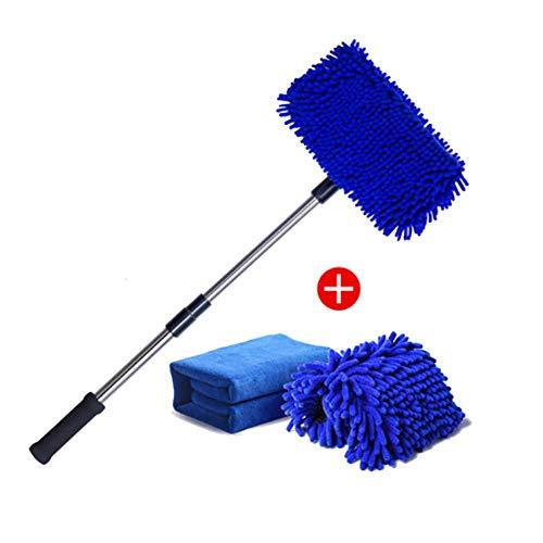 RUIX Autowaschbürste Langer Griff Einziehbar/Baumwolle/Reinigungsmopp/Autowaschzubehör