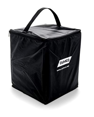 Camco Replacement Storage Bag for RV Leveling Blocks - Holds up to (10) 8-inch x 8-1/2-inch RV Leveling Blocks - Features a Sturdy Zipper Closure and Carrying Handle (44508)
