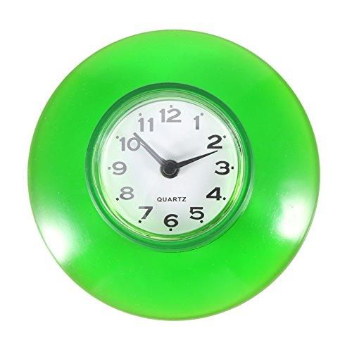 Giplar Horloge Murale /étanche pour Salle de Bain avec ventouses Petit Horloge Murale Plastique 11x21,6x4cm Cyan