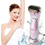 Tezam Cordless Women's Electric Shaver, 3-Blade Wet & Dry Body Hair Epilator Armpit Bikini Trimmer Lady Shaver, Rechargeable