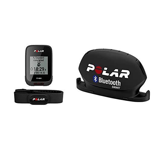 Polar - M460 - Compteur Vélo GPS Intégré avec Ceinture Capteur de Fréquence Cardiaque - Noir & Smart Kit Cadence Bluetooth