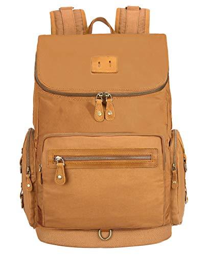 EverVanz Schulrucksack beiläufiger Rucksack im Freienrucksack mit 15.6 Zoll Laptopfach für Uni Schule A4 Ordner (9.Braun)