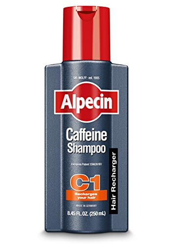 Alpecin C1 Caffeine Shampoo, 8.45 fl oz, Caffeine Shampoo Cleanses the Scalp to Promote Natural Hair Growth, Leaves Hair Feeling Thicker and Stronger