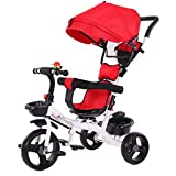 Toddler Trike Strollers, Kptoaz 5 in 1 Kids Push Tricycle with Handle...