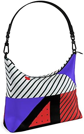 The Fashion Access Neo Memphis Patches Stickers Square Hobo Bag