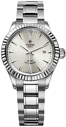 Tudor Style 12110 - Orologio da donna in acciaio INOX, quadrante argento, 28 mm