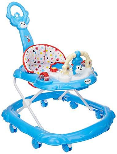 Amazon Brand - Solimo Baby Walker with Push Handle, Blue