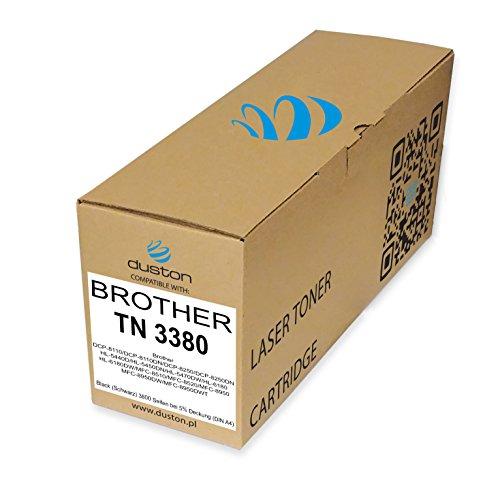 TN3380, TN-3380 Schwarz Duston Toner kompatibel zu Brother DCP-8110 DCP-8110DN DCP-8250 DCP-8250DN HL-5440D HL-5450DN HL-5470DW HL-6180 HL-6180DW MFC-8510 MFC-8520 MFC-8950