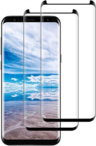 Aspiree Panzerglas Schutzfolie für Samsung Galaxy S8-[2 Stück] Galaxy S8 Panzerglasfolie-9H Härte Displayschutzfolie, Gehärtetes Glas Panzerglas, HD Ultra Klar, Anti-Kratzen, Anti-Öl