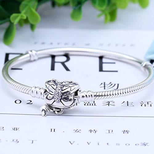 Schlangenkette mit blauen Sternen, Schmetterling, hart, Schlangenkette, Perlen-Armband, Armreif, für Frauen, DIY-Schmuck, Geschenk, Schmetterling-Armband, 19 cm