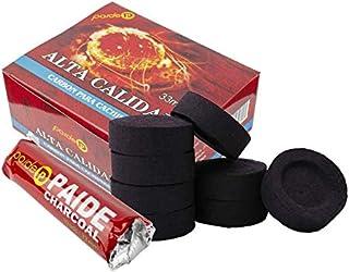 PAIDE - Discos de carbón para quemador, incienso, incensario, ahumar, shisha, hookah, narguile, cachimba (10 rollos, 100 unidades)