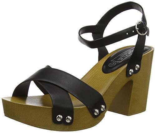 New Look Phea, Zapatos con Tacon y Correa de Tobillo para Mujer, Negro (Black 1), 38 EU