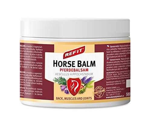 Refit Pferdebalsam 500 ml XXL | Extra stark Schmerzgel | Kräuter Salbe