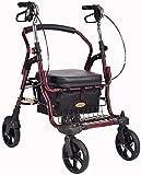 Z-SEAT Andador con Andador, Ayuda para Caminar, Altura Ajustable, Andador con Ruedas de Postura Vertical, Espacio Grande, Andador con Andador portátil de Movilidad con 4 RU