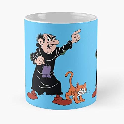 The Azrael Evil Comic Schlumpf Schlümpfe Katze Gargamel Eat Food Bite John Best 313 ml Keramik Kaffeetasse