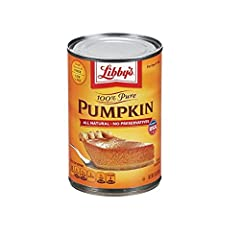 100% Pure Pumpkin Delicious taste, creamy texture and pleasing orange color No salt, no sugar, no flavorings or preservatives Rich in antioxidants, fiber and a low fat diet can help improve your health.