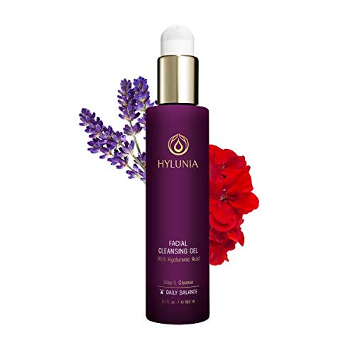 Hylunia Facial Cleansing Gel - 5.1 fl oz - Lavender, Hyaluronic Acid Serum - Acne - Rapid Skin Repair