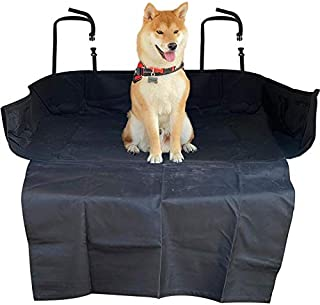 Motorup America Dog Auto Trunk Cargo Liner Cover 100% Waterproof Nonslip for Pets Back Seat with Side Flaps Fits Select Vehicles Car Truck Van SUV