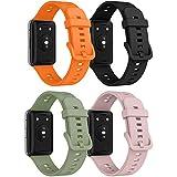 Songsier Cinturino Compatibile con Huawei Watch Fit, Cinturino di Ricambio Sportivo in Silicone Morbido Impermeabile Solo per Huawei Watch Fit