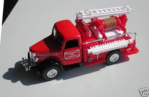 Unbekannt Feuerwehr rot Schlauchwagen Klassik Modellauto Metall