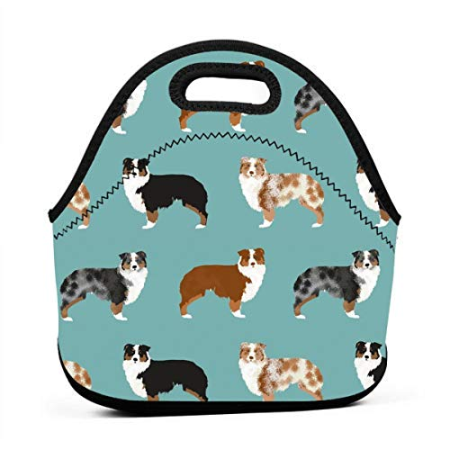 Australian Shepherds Dogs Travel Picnic Lunch Bag Lunchboxes Outdoor Lunch Box Bag Lunch Tote Handbag Convenience For Out