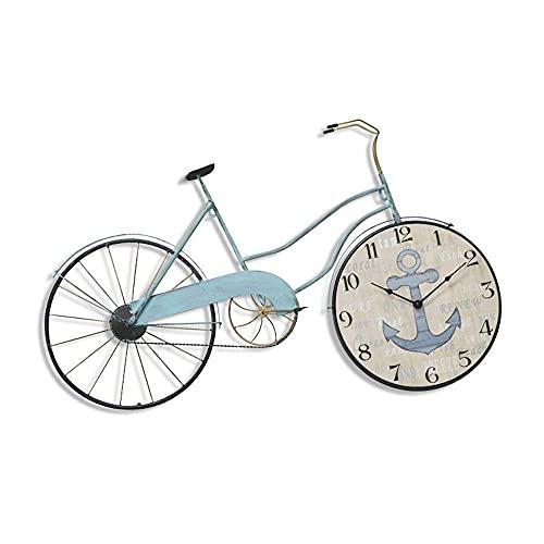 BBZZ Reloj de pared creativo para bicicleta, estilo nórdico, moderno y minimalista, estilo mediterráneo, moderno y moderno, adecuado para decoración de pared de salón, dormitorio, cafetería,