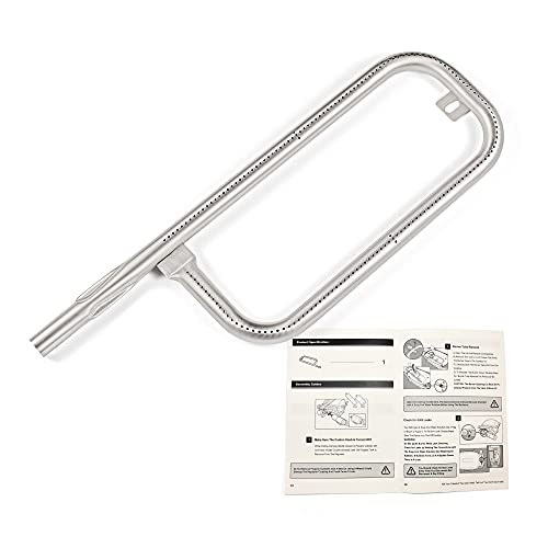 Dtong 304 Stainless Steel Grill Burner Tube for Weber Q100, Q1000, Q120, Q1200, Baby Q, 17 Inch Gas Grill Replace for Weber 60040/69957/45657