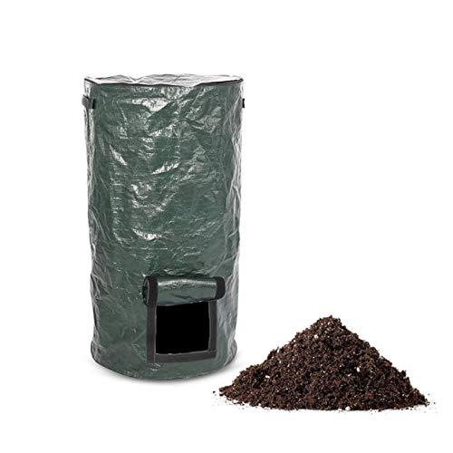 XGzhsa Bolsas de abono de jardín, Bolsas de Basura de residuos de jardín, contenedor de abono orgánico ecológico con Tapa Adecuado para Cocina, jardín, Patio (35 x 60 cm)