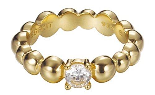 Esprit Jewels Damen-Ring 925 Sterling Silber Solo pellet gold Gr. 53 (16.9) ESRG92321B170