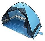 Ankon Carpas de Playa para Adultos de Verano Playa Tienda Anti-Mosquito Playa Sombra Tienda con Protección UV de Gauze Camping Portátil Al Aire Libre Tienda