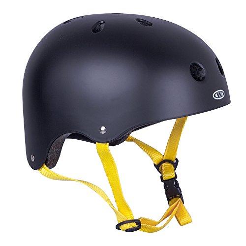 WORKER Skaterhelm Rivaly schwarz/gelb Gr. 48-52, 52-55, 55-58, 58-60 cm verstellbar (M 55-58 cm)