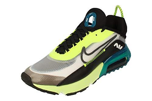 Nike Air MAX 2090, Sneaker Hombre, Blanco/Negro-Volt-Valerian Blue, 43 EU