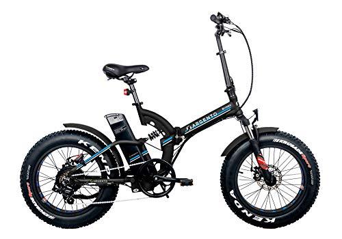Argento Bike-Bimax Blu, e-bike pieghevole fat, Nero, ruote 20''
