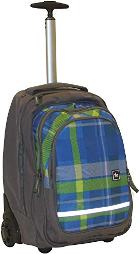 All Out Schultrolley Bolton mit Trinkflasche - versch. Farben (Woody Blue)