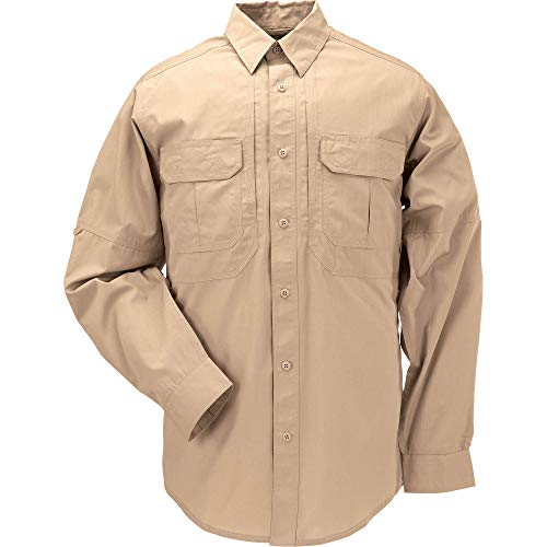 5.11 Tactical Series Taclite Pro Shirt Long Sleeve Chemise Homme, Coyote, FR : M (Taille Fabricant : M)